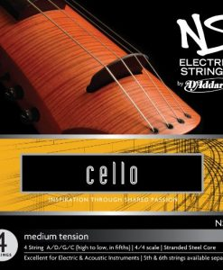 D'Addario NS Electric Cello String Set, 4/4 Scale, Medium Tension
